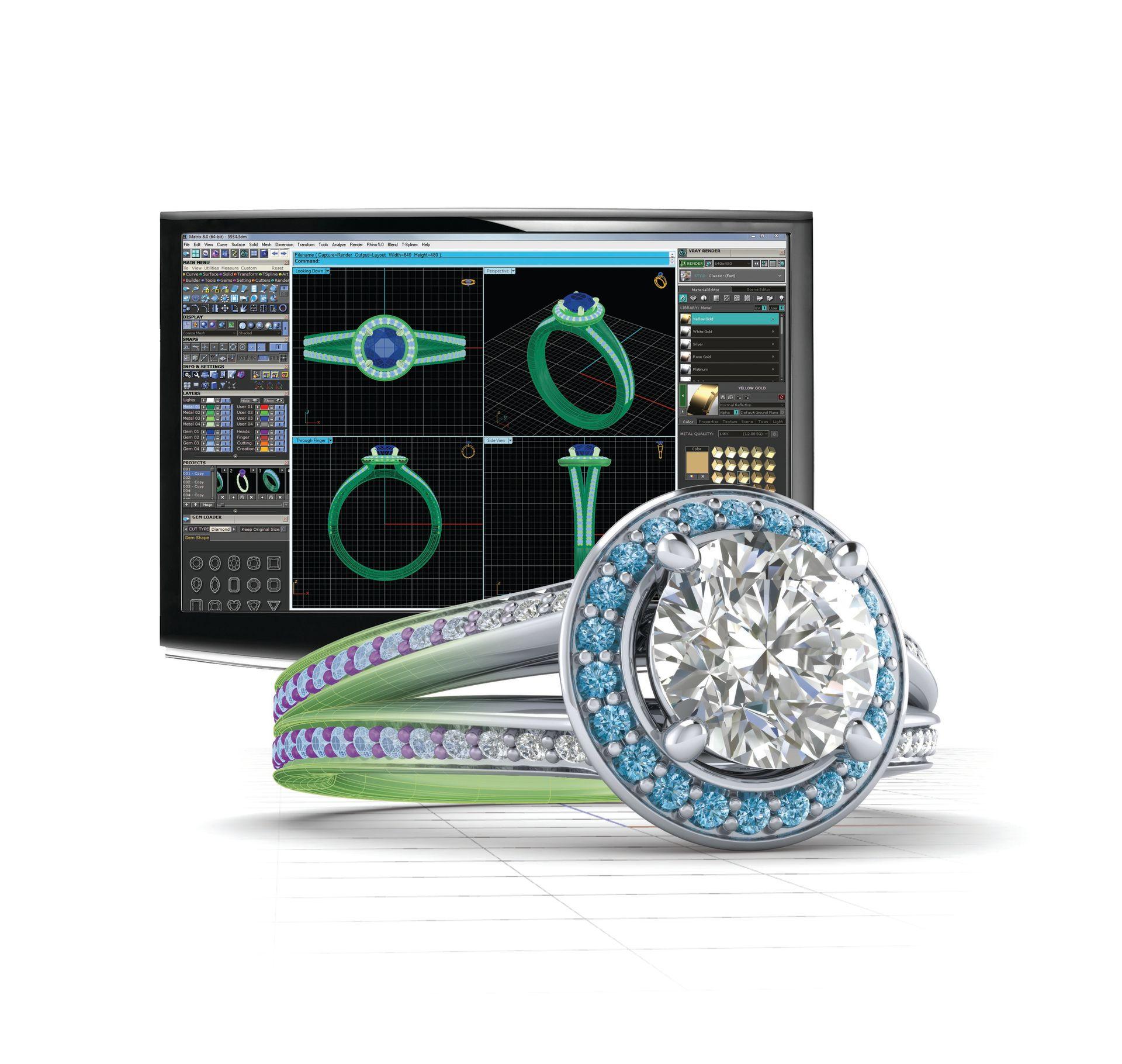3D-модель ювелирного изделия в ПО