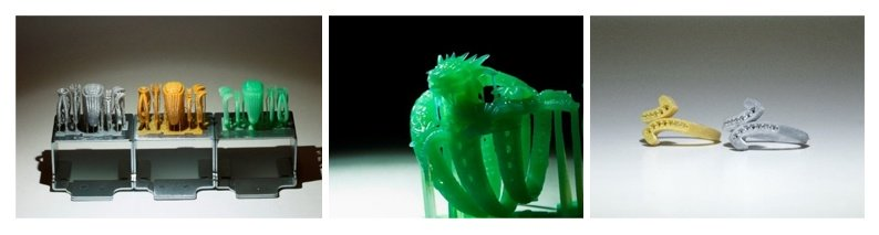 Модели, напечатанные на фотополимерном 3D-принтере