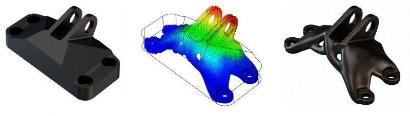 Пример топологической оптимизации