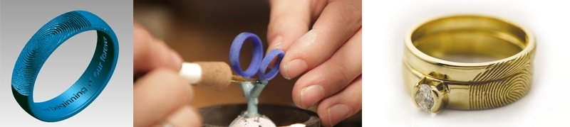 3d печать ювелирных колец в компании Vowsmith