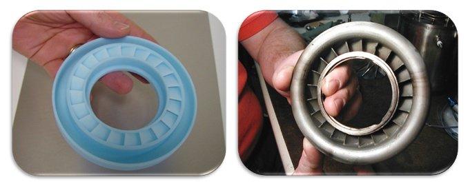 Модель и отливка компонента газотурбинных двигателей