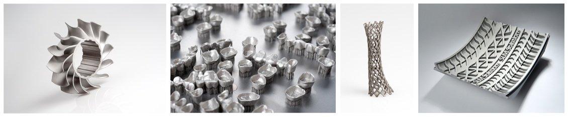 Изделия, напечатанные на установках SLM