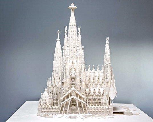 Модель Храма Святого Семейства, напечатанная на 3D-принтере