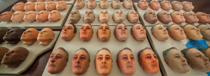 3D-принтер позволил передать различные выражения лица