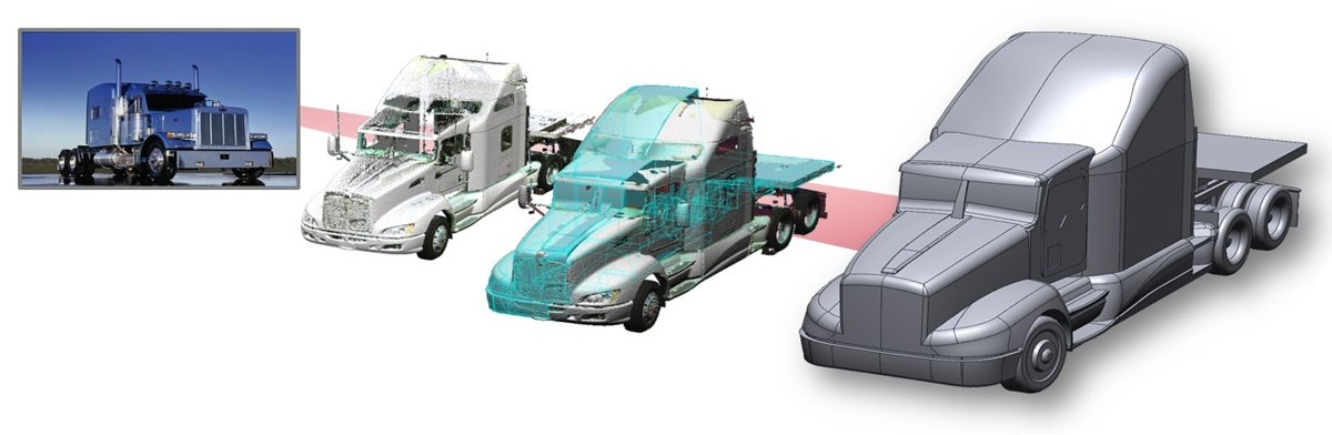 Результаты 3D сканирования и создания CAD-модели