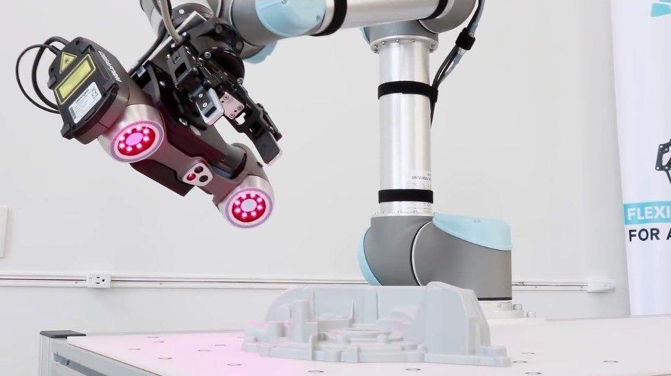 Роботизированный контроль качества с помощью 3D сканера Creaform Handyscan