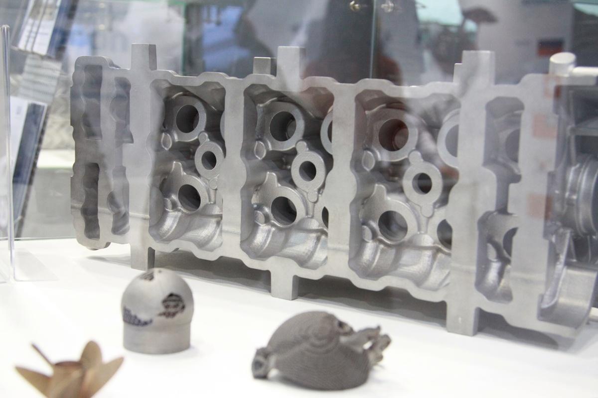 Металлическая деталь, напечатанная на 3D принтере