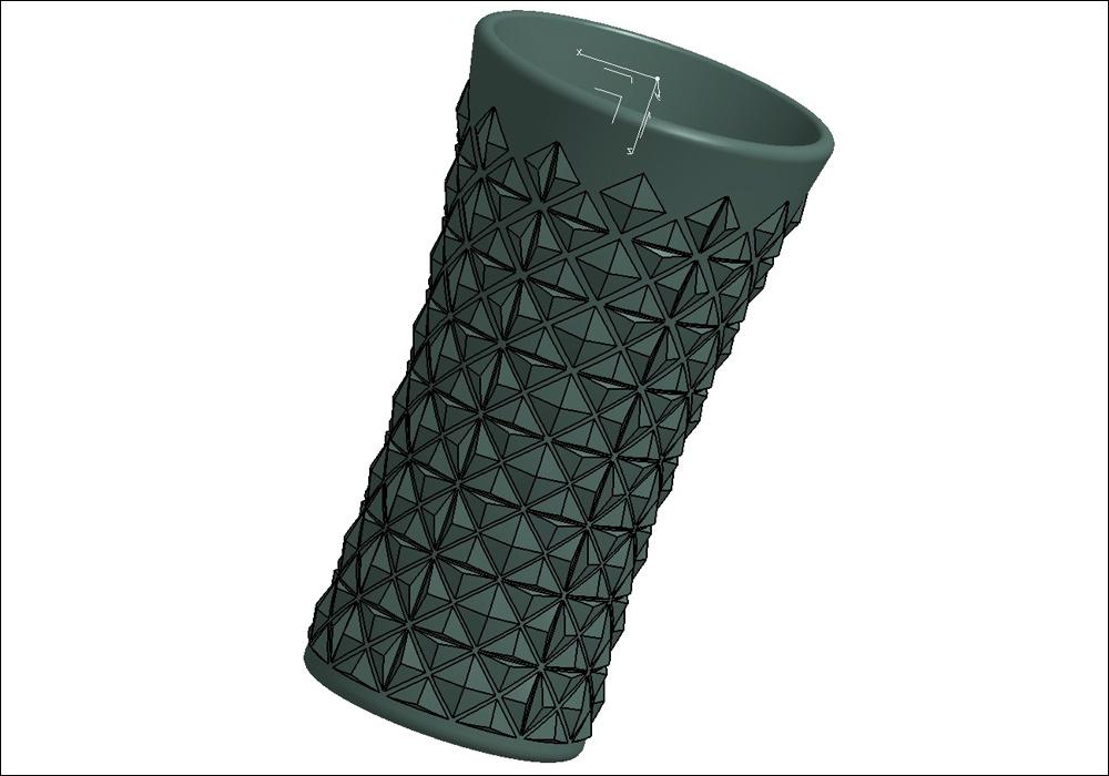 Модель стеклянного изделия в Geomagic Design X