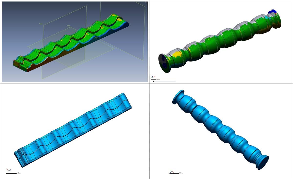 3D модели штампа и вальца