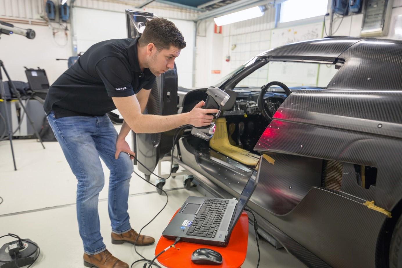 3D сканирование корпуса автомобиля