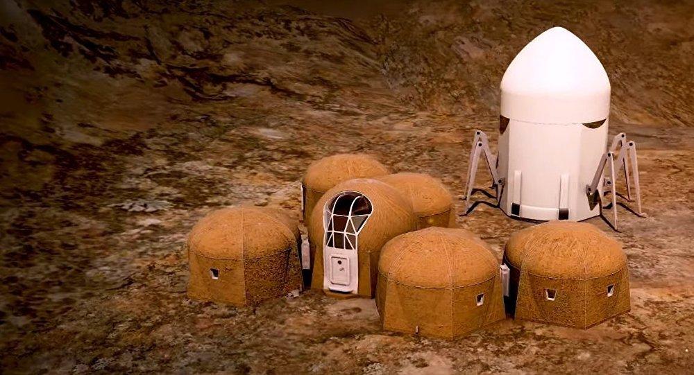 3d печать домов на Марсе 1