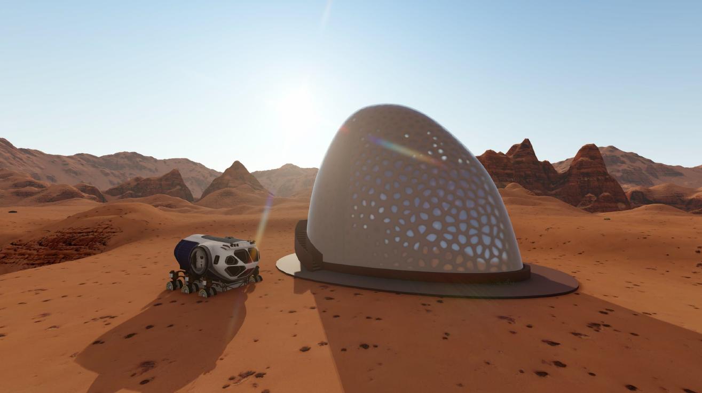 3d печать домов на Марсе 3
