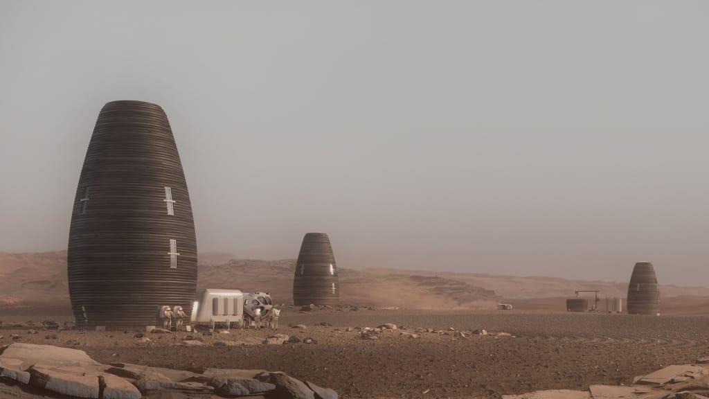 3d печать домов на Марсе 2