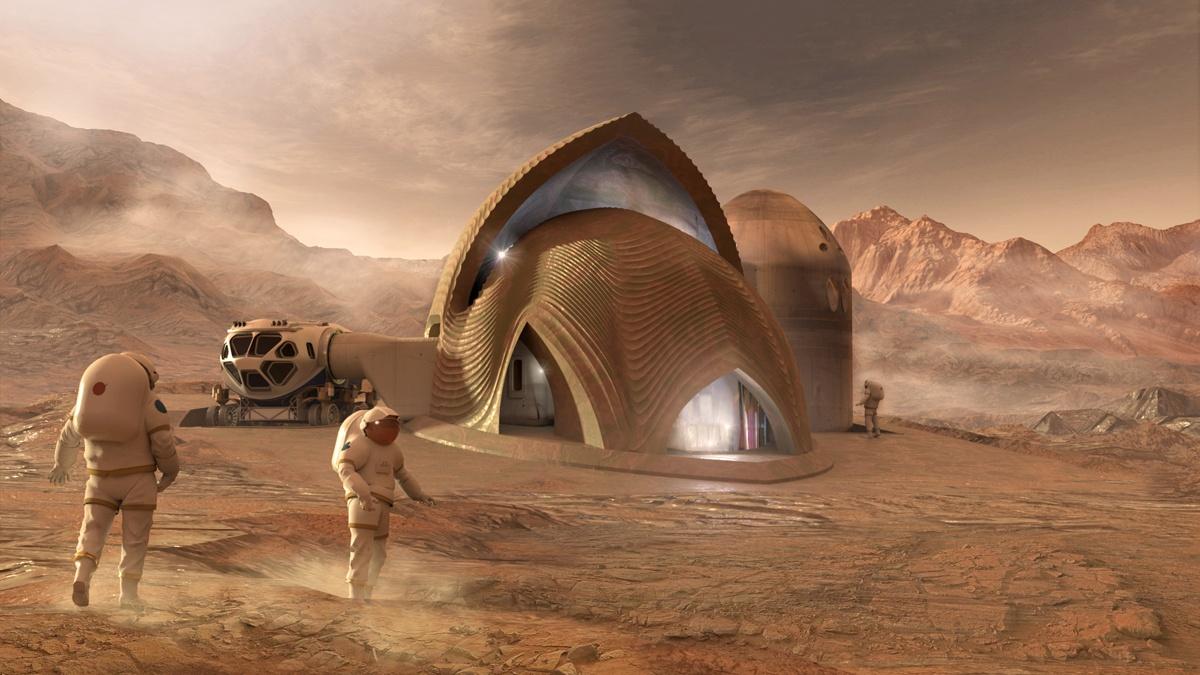 3d печать домов на Марсе 4