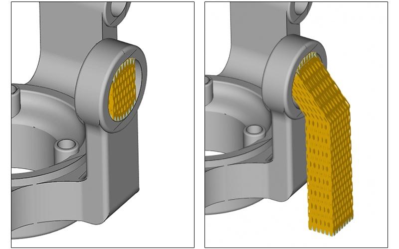 Наклонные поддержки для деталей, создаваемых на 3D принтере