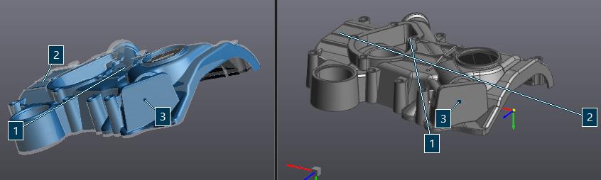 Совмещение скана и эталонной модели
