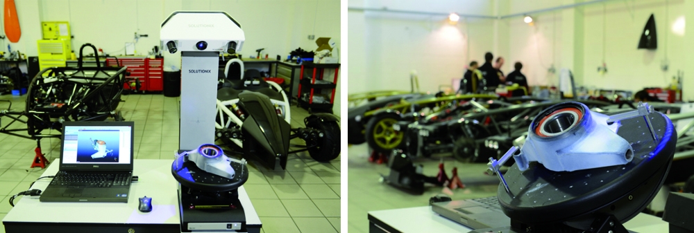 3D-сканер Solutionix в автоиндустрии