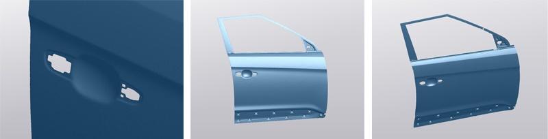 Результаты 3D сканирования двери автомобиля