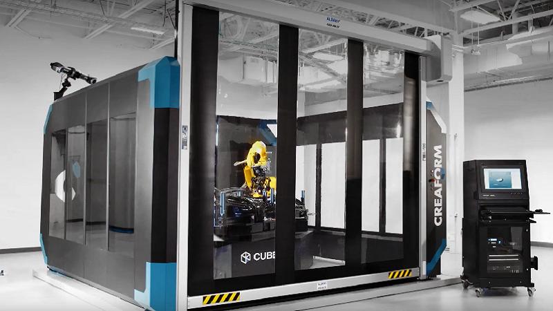 Высокопроизводительное 3D сканирование с помощью системы Creaform CUBE-R