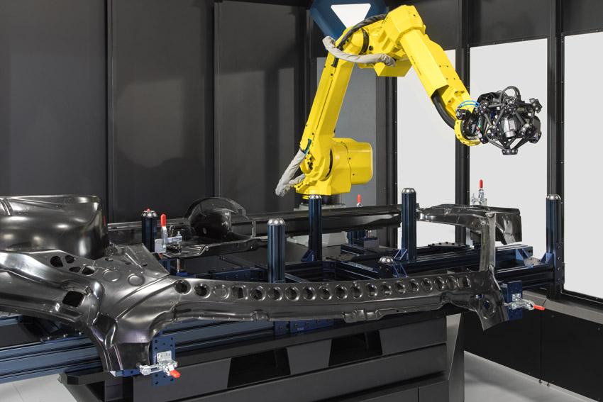 КИМ на базе 3d сканера и робота Creaform CUBE-R