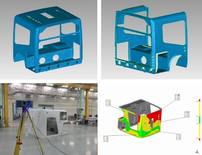 3D сканирование корпуса автобуса