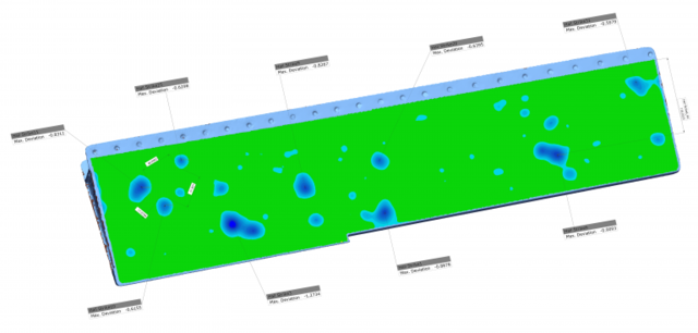 Geomagic Control X: повреждения видно сразу