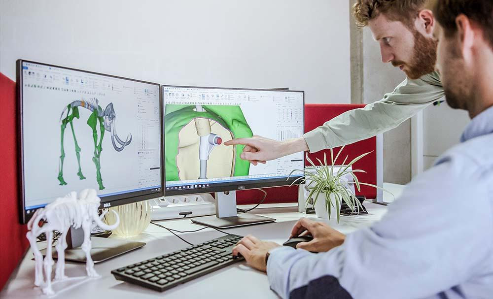 Цифровая реконструкция скелета после 3D сканирования