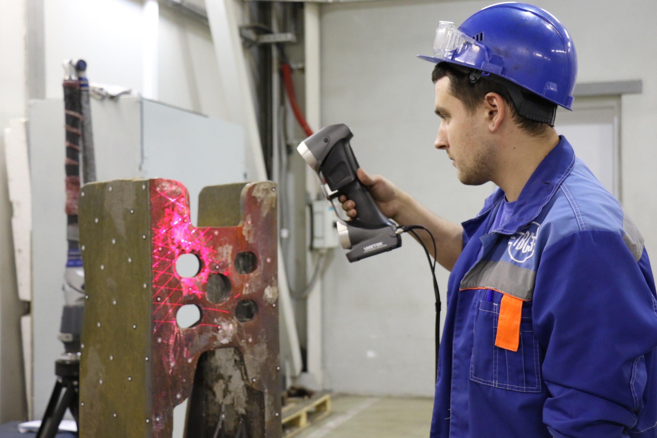 3D сканер Creaform на Тихвинском вагоностроительном заводе