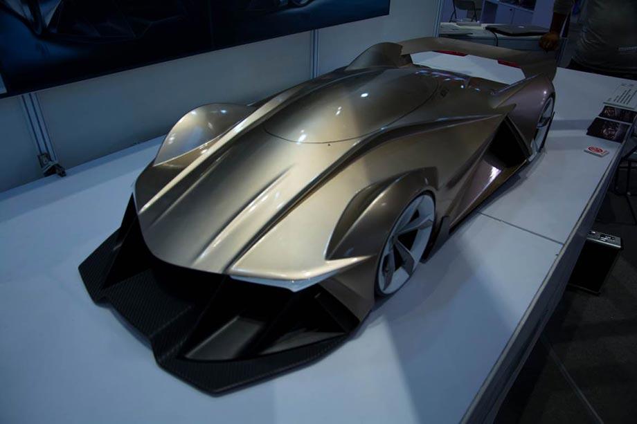 Напечатанный на 3D-принтере прототип концепт-кара