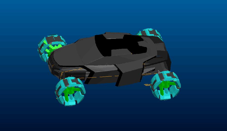 Дизайнерский эскиз прототипа спорткара