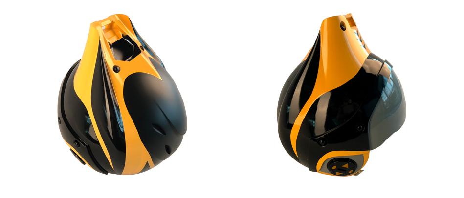 Готовая модель шлема, созданная на 3D принтере ProtoFab