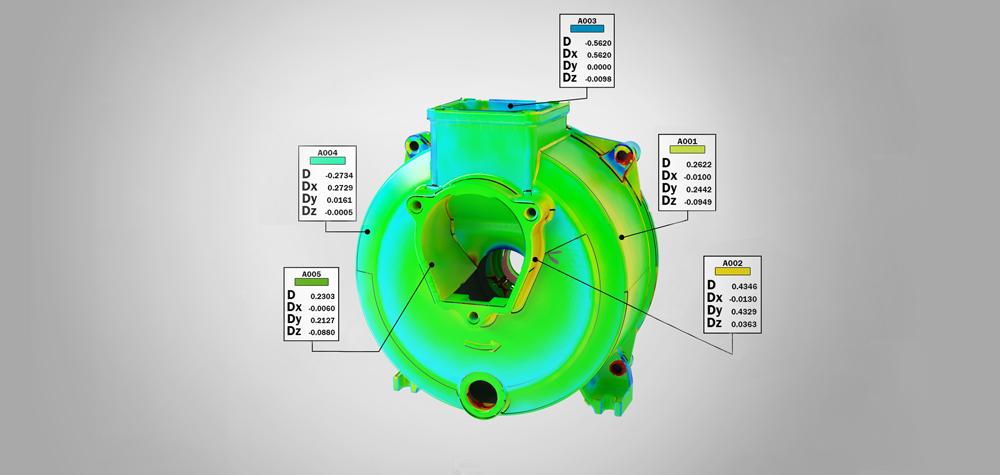 Контроль автокомпонента после 3D сканирования