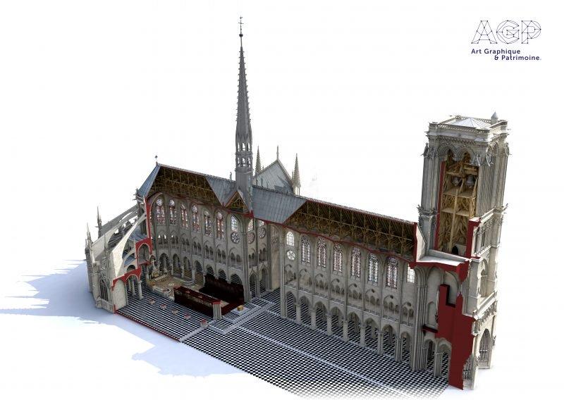 3D-модель Нотр-Дам
