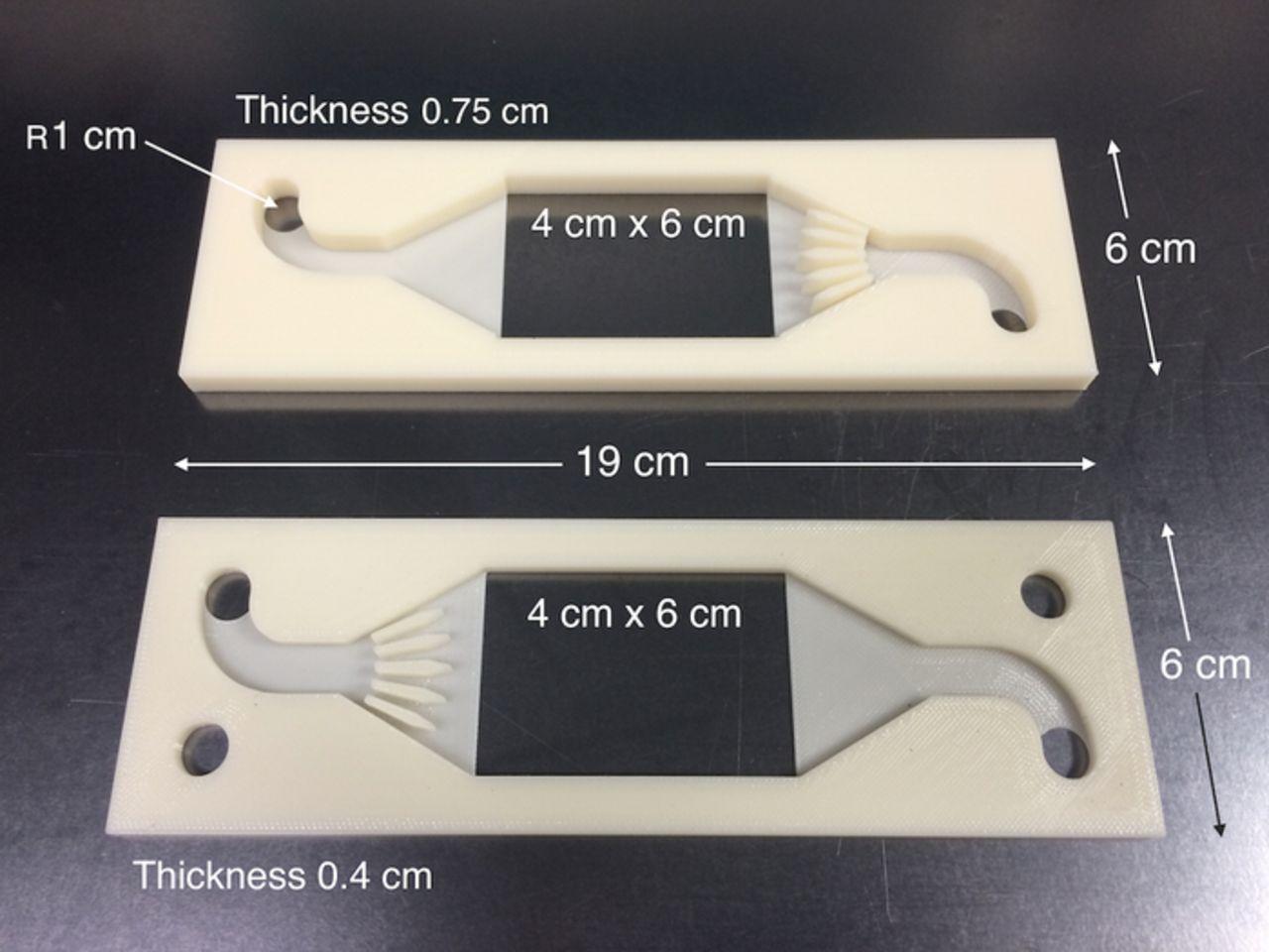 Части корпуса батареи «Redox Flow», напечатанные на 3D-принтере