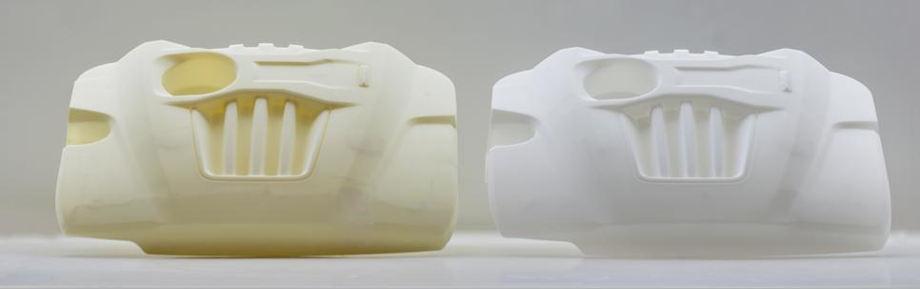 Детали, изготовленные на станке и на SLA-принтере