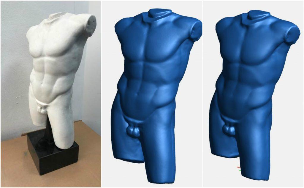 3D сканирование статуи