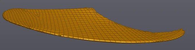 Построение поверхности лопатки 3